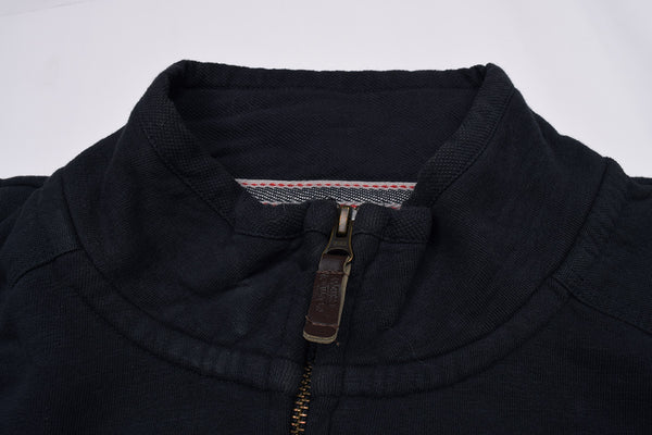 "Men's Cut Label ""Next"" Full Zipper Fleece Mock Neck-Dark Navy-BE130"