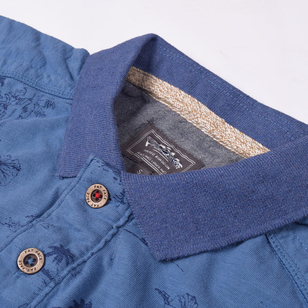 Fat Face Polo Shirt For Men Cut Label-Blue-BE688
