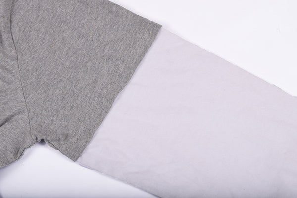 "Men's ""Next"" Crew Neck Full Sleeve T-Shirt-Gray & White - BE492"