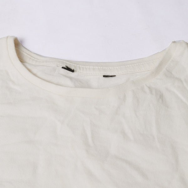 Next Crew Neck T Shirt For Kid Cut Label -Off White-BE2423