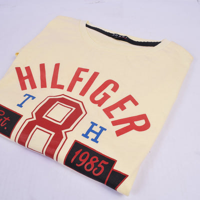 Tommy Hilfiger Crew Neck T Shirt For Men-Light Yellow-BE2946
