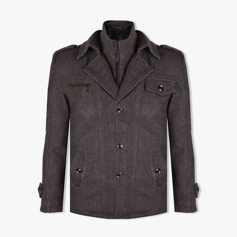 "Men's ""KASHILE"" Stylish Full Zipper Wool Jacket-MWC02"