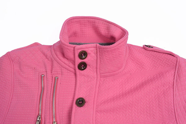 "Men's ""American Eagle"" Full Fashion Zipper Fleece Jacket-Pink Zipper Style-AEZJ89"