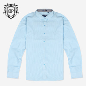 Bushirt Patloon Pinstrip Green Casual Shirt For Men-BP0023