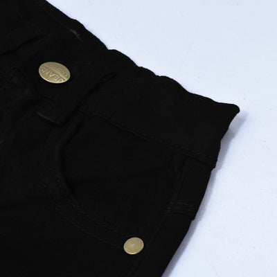 & Denim Slim Fit Denim For Kids-Black-NA10919