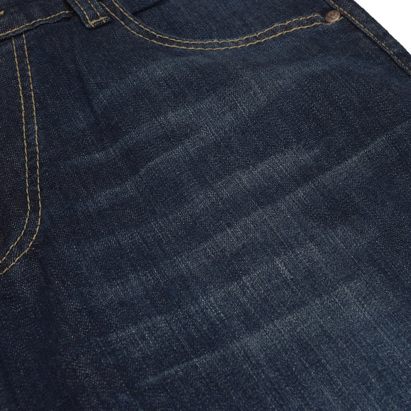 Sir Rich Straight Fit Denim For Men - Faded Wash Navy - SR002