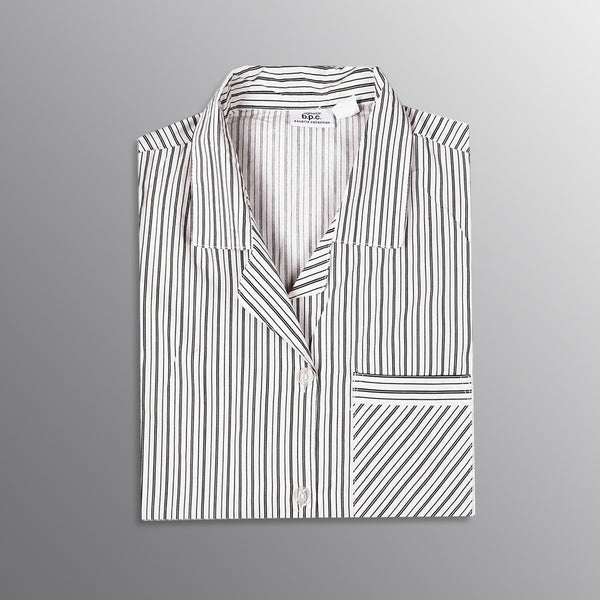 "Men's ""Bonprix Collection Nightwear shirt-White-BE3230"