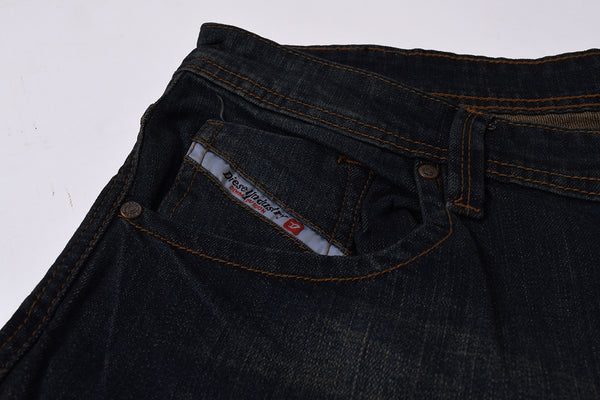 "Men's ""DIESEL"" Black Slim Fit Stretch Denim With Light Black Wash -ND13"