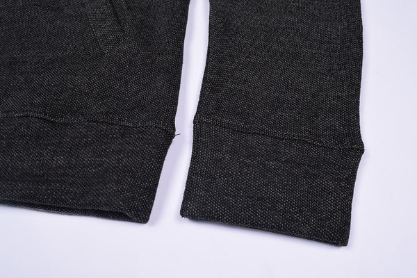 "Men's ""ZARA"" Full Sleeve Fleece Baseball Fleece Jacket-Black Dotted-BE393"