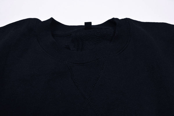 "Men's Cut Label ""Next"" Crew Neck Fleece Sweatshirt-Dark Navy-BE17"