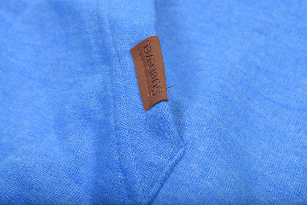 "Men's ""Sublevel"" Stylish Pull Over Fleece Hoodie-Sky Blue-BB13"