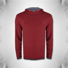 Fat Face Pullover Hoodie For Men -Dark Red- BE701