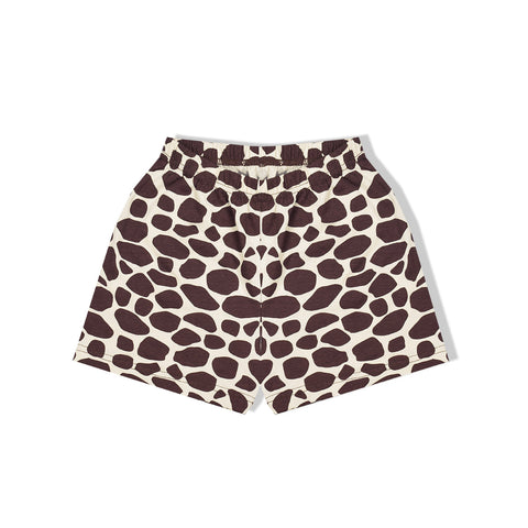 Stylish Short For Ladies -Dark Brown & LIght YEllow Dots-BE985