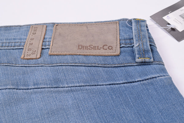 "Men's ""DIESEL"" Light Blue Slim Fit Stretch Denim With Light Blue Wash -ND14"
