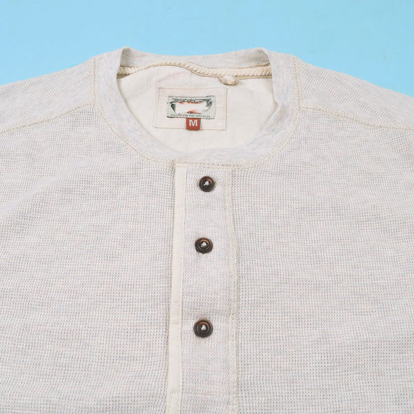 "Mens ""Next"" Cut Label Henley Shirts-Off White-CN05"