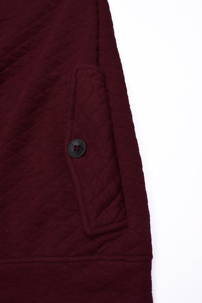 "Men's ""American Eagle"" Full Fashion Zipper Quilting Stylish Jacket-Dark Burgundi-AEZJ012"