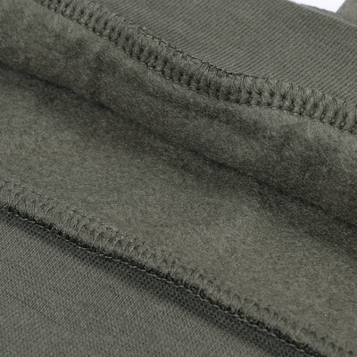 F&F Pullover Fleece Hoodie For Men-Light Olive Green-BE3533