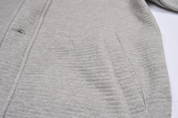 "Men's ""American Eagle"" Full Fashion Zipper Fleece Stylish Jacket- Gray Ligning Zipper Style-AEZJ48"