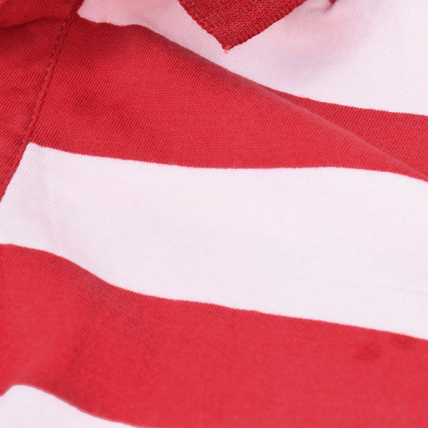 Tom Tailor Polo Shirt For Men-Red Striped-TTD01