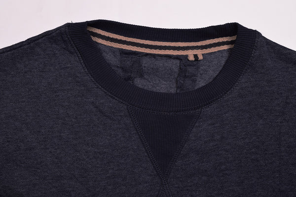 "Men's Cut Label ""Next"" Stylish Fleece Sweatshirt- Navy-BE05"