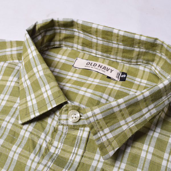 Old Navy Exclusive Casual Shirt-Green & White Check-ONCS05
