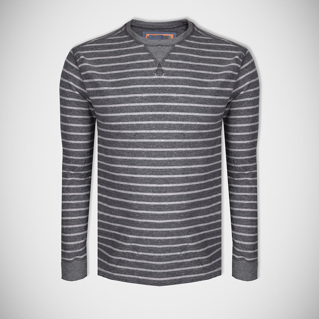 "Men's Cut Label ""Next"" Stylish Terry Fleece Striper Sweatshirt-Off White Stripes-BE07"