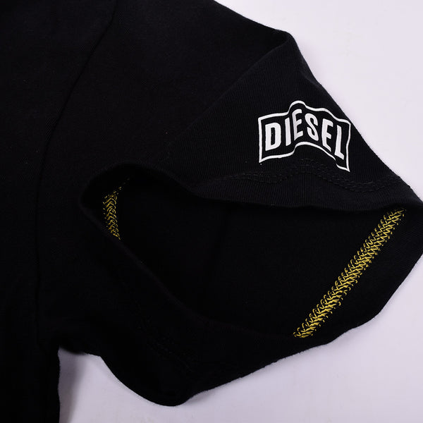 Diesel Printed Logo T Shirt For Men-Black-DLPTS10