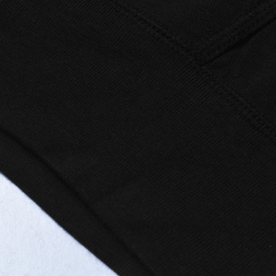 Next Fleece Pullover Hoodie For Men-Black With Grey & Dark Burgundy Panel-NA10619