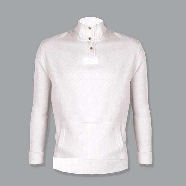 "Men's ""B&C"" Fashion Thermal Mock Neck-Cream Color-M0760"