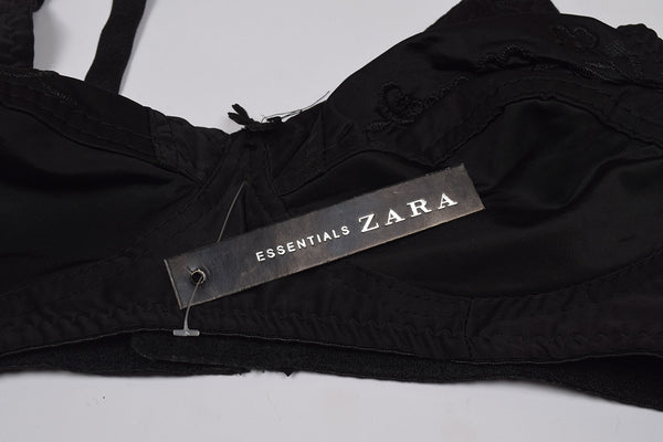 "Ladies "" Zara Essentials "" Stylish Bra - Black - ZB02"