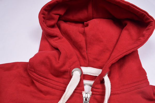 "Men's Cut Label ""North Coast"" Stylish Zipper Hoodie -Red-H14"