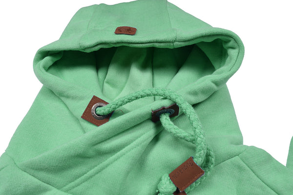 "Men's ""Sublevel"" Stylish Pull Over Fleece Hoodie-Lime Green-BB03"