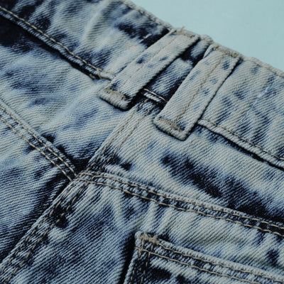 Love Denim Denim Short For Girls-Dirty Wash-BE7284