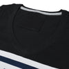 Adidas V Neck Single Jersey Long Sleeve Tee Shirt For Boys-Black-SP1866