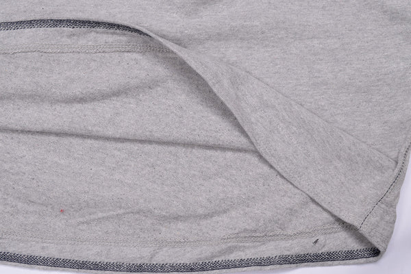 "Men's Cut Label ""Next"" Singal Jersy Henley Shirt-Gray-BE13"