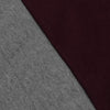 Next Fleece Pullover Hoodie For Men-Dark Grey With Maroon Panel-NA10634