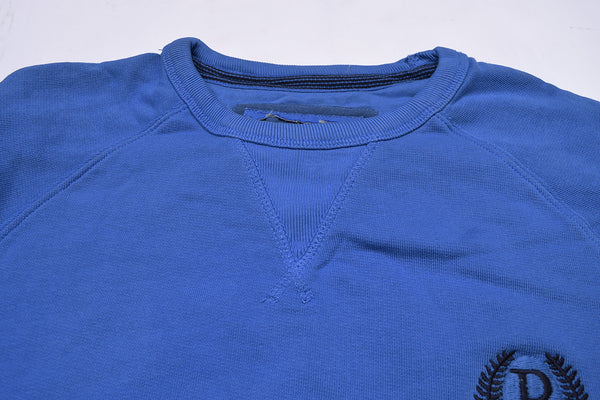 "Men's Cut Label ""Next"" Crew Neck Terry Fleece Sweatshirt-Blue-BE15"