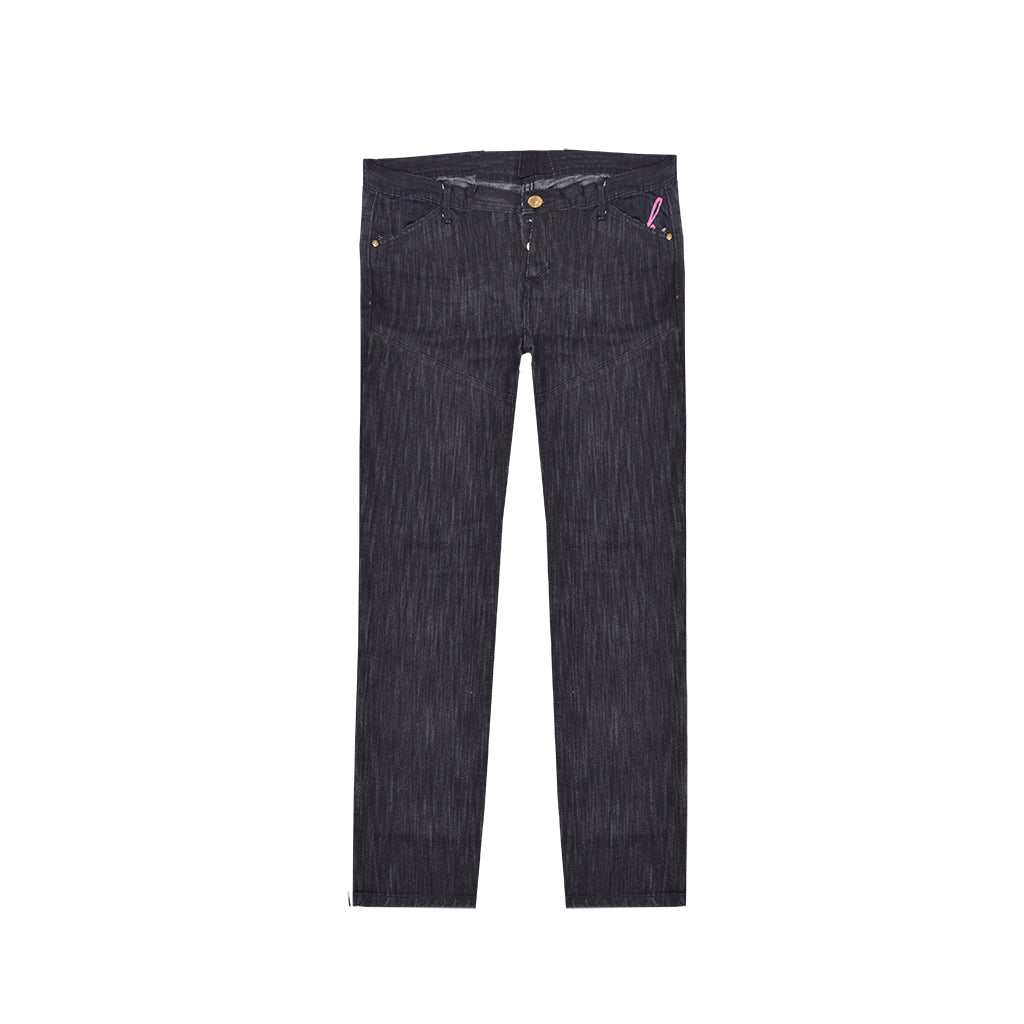 HENL Straight Fit NON-Stretch Denim For Men-Black-HENL 01