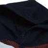 New Stylish Fleece Pullover Hoodie For Men-Dark Navy With Dark Grey & Sky Blue Panels-SP1636