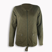 Ladie's H&F Cut Label Stylish Zipper Jacket-Green-SB07