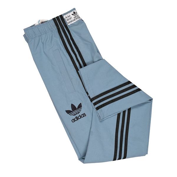 Adidas Cotton Trouser For Men-Bond Blue With Black Stripes-BE985