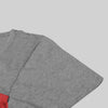 NK Crew Neck Single Jersey Tee Shirt For Boys-Grey Melange With Panels-SP1870