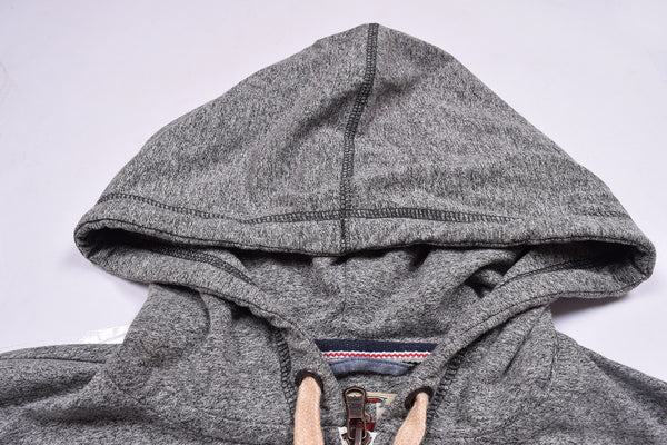 "Men's Cut Label ""Fat Face"" Stylish Zipper Hoodie -Gray Melange-H20"