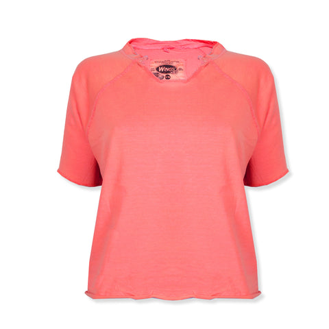 "Ladie's ""Wings"" Stylish Top-Coral Orange-BE318"