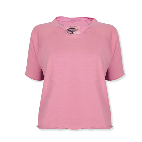 "Ladie's ""Wings"" Stylish Top-Pink-BE317"