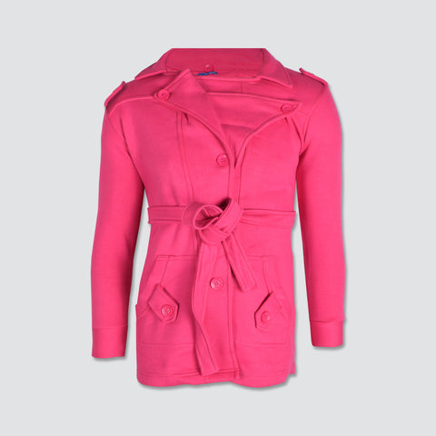 "Ladie's ""Like an Angel"" Stylish Trench Coat Pink-LTC02"