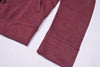 American Eagle Full Fashion Zipper Fleece Jacket For Men-Light Maroon Pocket Style-AEZJ60