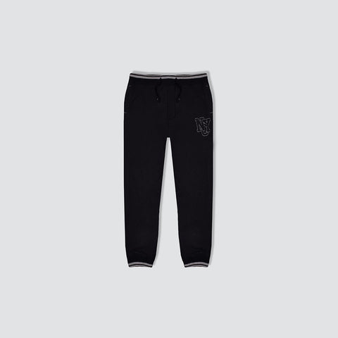 "Kid's Cut Label ""Next"" Black White Zig Zag Ligning Fleece Close Bottom Trouser-KT03"
