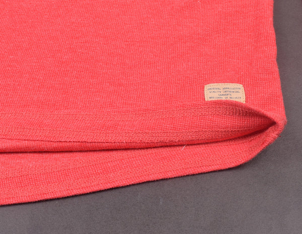 "Mens ""Marks & Spencer"" Cut Label Henley Shirts Thermal-Red-SB10"