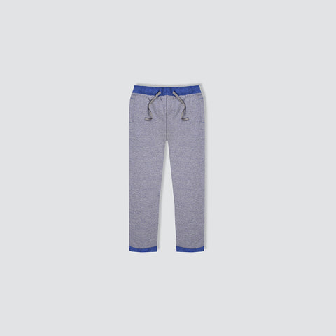 "Kid's Cut Label ""Track & Field"" Blue Melange Terry Fleece Trouser-KT05"